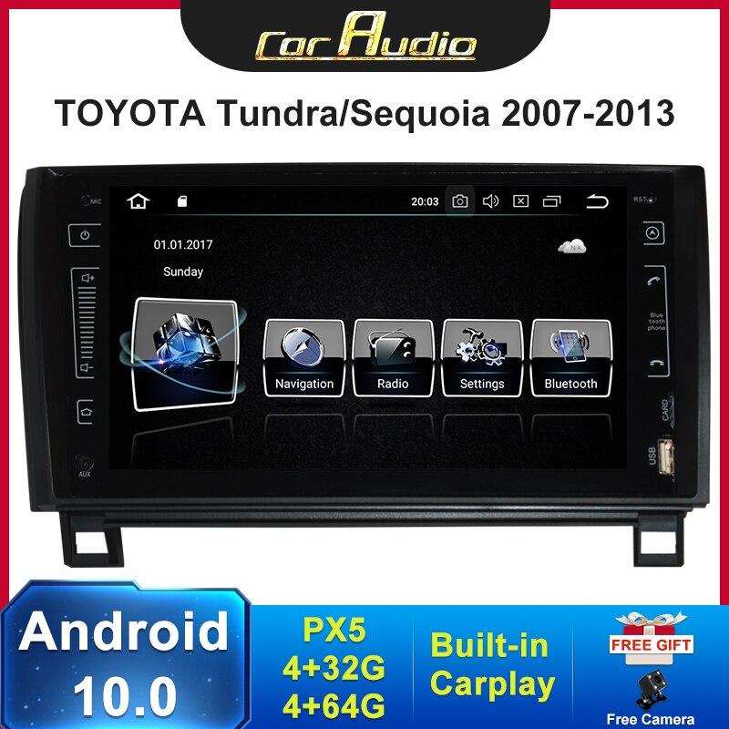 "9 ""HD IPS Bildschirm Android 10,0 Auto Radio Für Toyota Sequoia 2008-2018 GPS Tundra 2007-2013 auto Multimedia player TDA7851 BT"