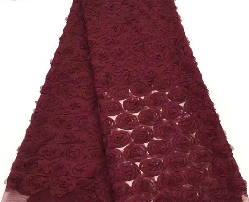 مادة خام مهمة لتصميم فستان الأميرة: قماش دانتيل ليزر التجاعيد الوردي