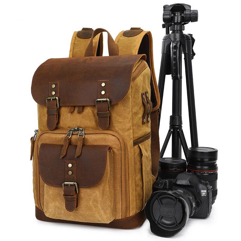 DSLR حقيبة كاميرا ظهره أحدث الباتيك قماش مقاوم للماء التصوير حقيبة الظهر في الهواء الطلق مقاومة للاهتراء المنظم حقيبة للكاميرا