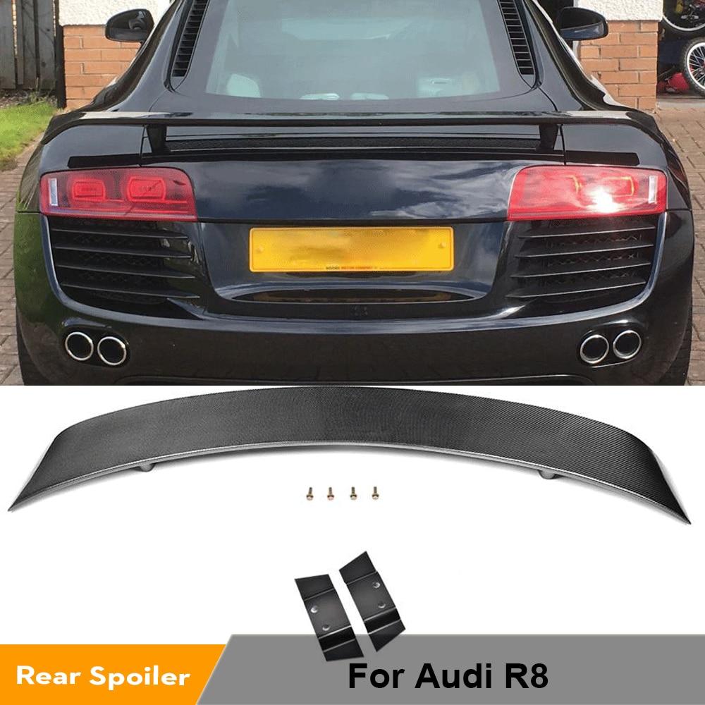 سبويلر للجذع الخلفي من ألياف الكربون/FRP سبويلر للجناح الخلفي للسيارة Audi R8 GT V8 V10 2008 - 2015 سبويلر خلفي للجناح الخلفي