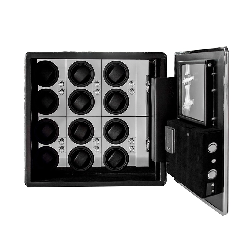 Automatic Watch Winder Safe Box 12 Grids Watch Winding Box Quiet Motor Storage Display Case Mechanical Watches Jewelry Box enlarge