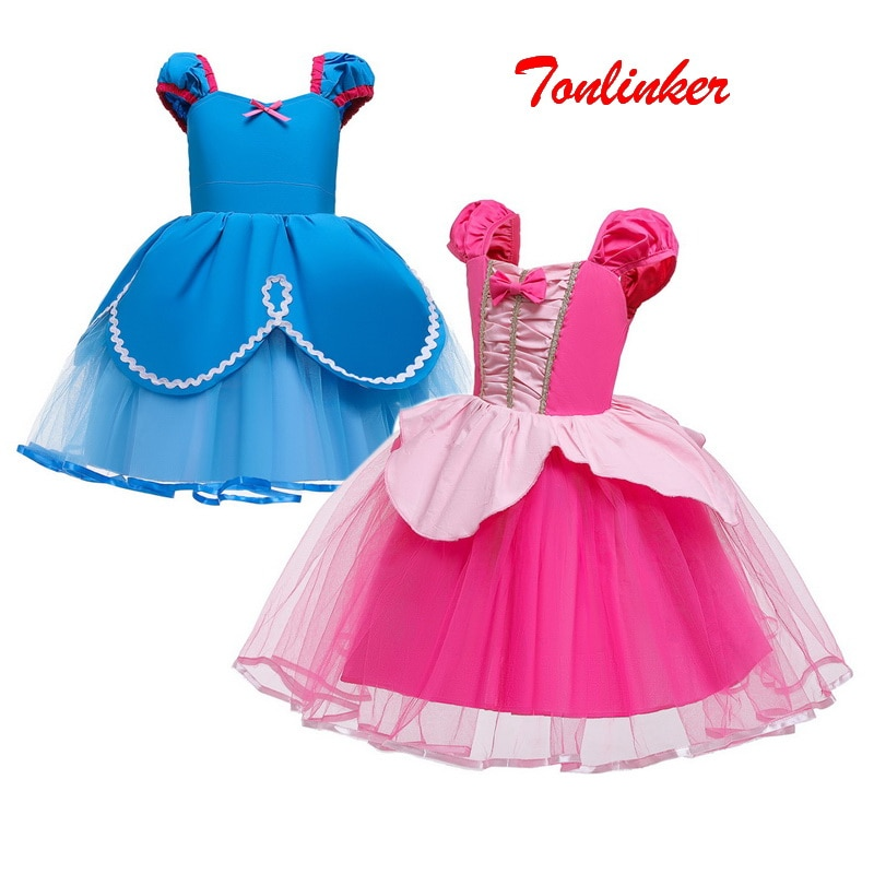 м мадера долина эдельвейсов и день рождения принцессы Детская одежда на Рождество, Хэллоуин, День рождения; Vestidos; Платье принцессы с юбкой-пачкой для девочек, карнавальный костюм, маскарадные ве...