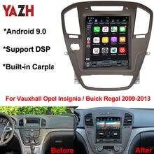 "Yazh rádio automotivo com android 9.0 pie, para vauxhall opel insignia/buick regal 2009 2010 2011 2012 2013 10.4 ""ips navegação gps para carro"