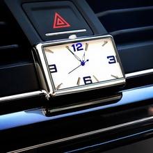 Car Clock Quartz Automobiles Interior Stick-On Watch High Grade Auto Vehicle Dashboard Time Display