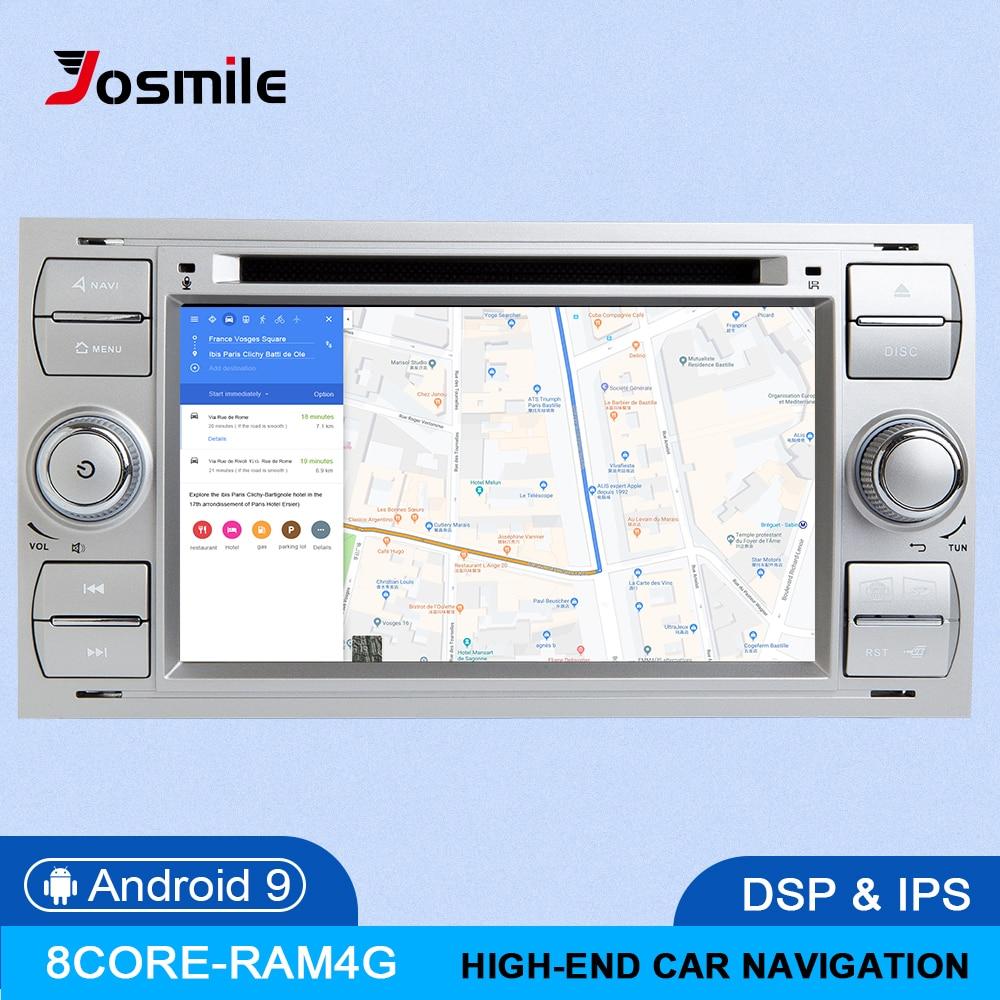 Автомагнитола IPS DSP, 8 ядер, 4 Гб + 64 ГБ, 2 din, Android 9, для Ford Focus 2, 3, mk2, Mondeo, 4, Kuga, Fiesta, Transit, Connect, S-MAXC-MA
