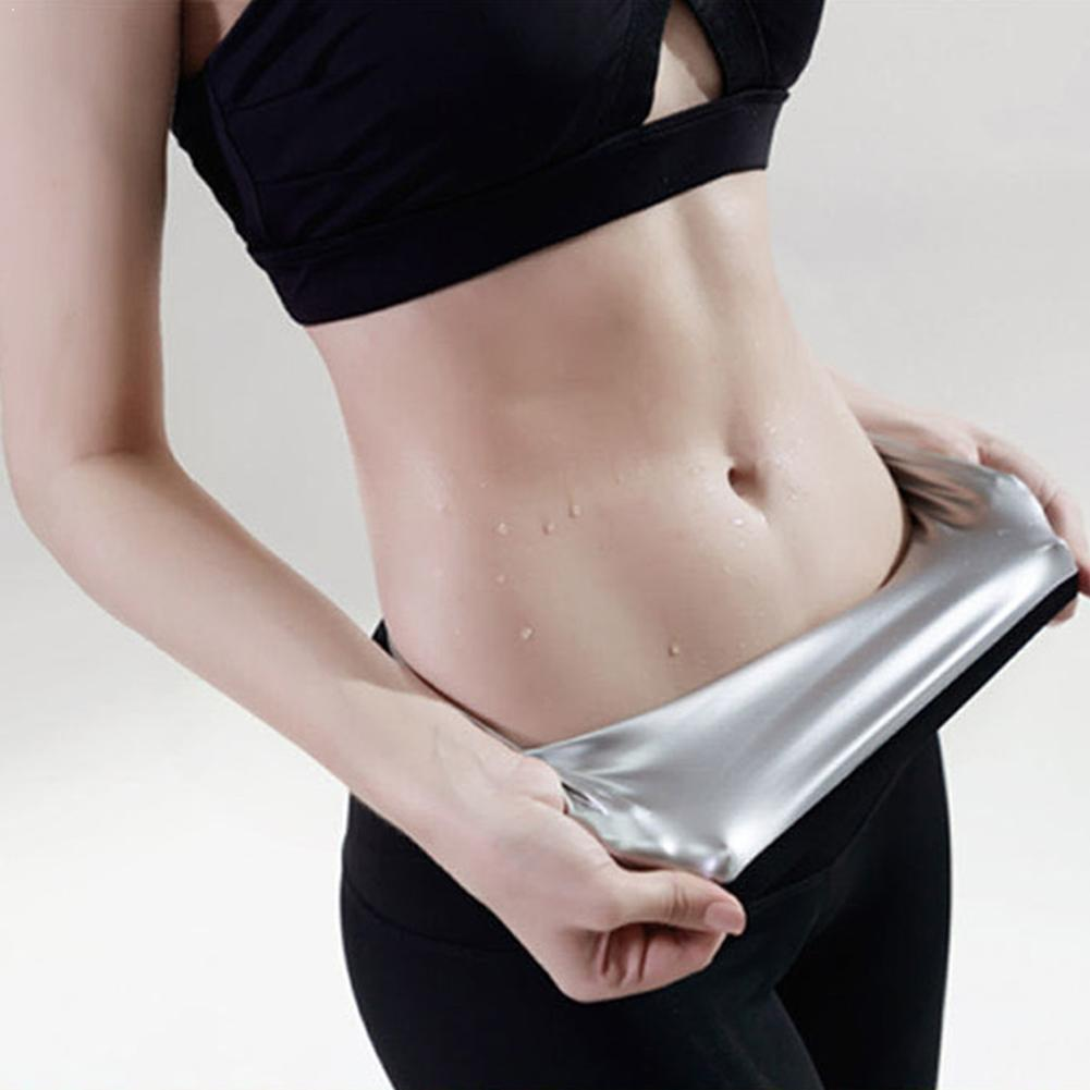 Sports body shaping sweat pants Yoga running fast fat waist pants three-point plastic sweat burning