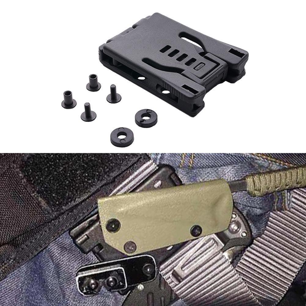 1 hebilla de viaje grande Tek Lok cinturón Clip Loop para DIY con Hardware, Kydex para cuchillo especial vaina/funda F7T6