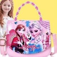 disney fashion portable princess accessory bag korean children messenger bag cartoon cute shoulder bag girl coin purse