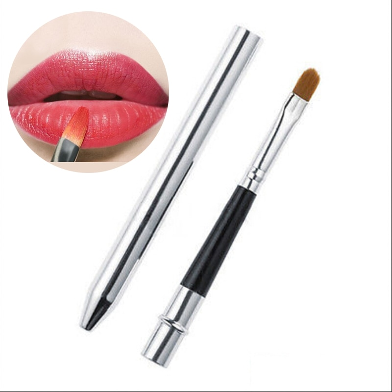 1 Pcs Professional Lip Brushes Soft Make Up Brush For Lipstick Lip Gloss Wands Applicator Makeup Bea