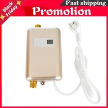 Instant Water Heater 3800w Tankless Water Heater Temperature Display Heating Hot Water Shower Kitche