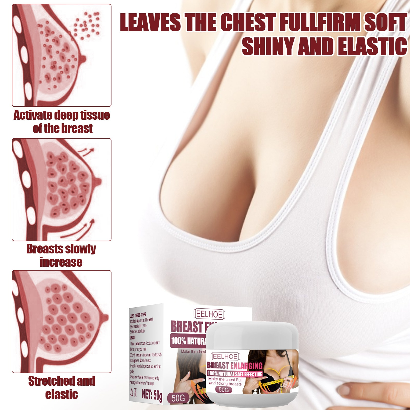 Breast Enhancer Skin Firming and Lifting Body Cream Promote Breast Hip Enhancement Cream Busty Fast