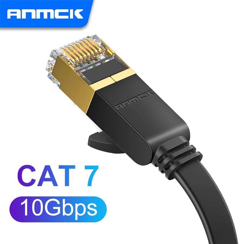 Anmck Cat7 Cable Ethernet RJ45 adaptador UTP Cable CAT 7 RJ 45...