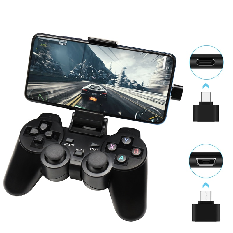Беспроводной геймпад для телефона Android/ПК/PS3/ТВ-приставки, джойстик 2,4G, игровой USB-контроллер для ПК, аксессуары для смартфона Xiaomi