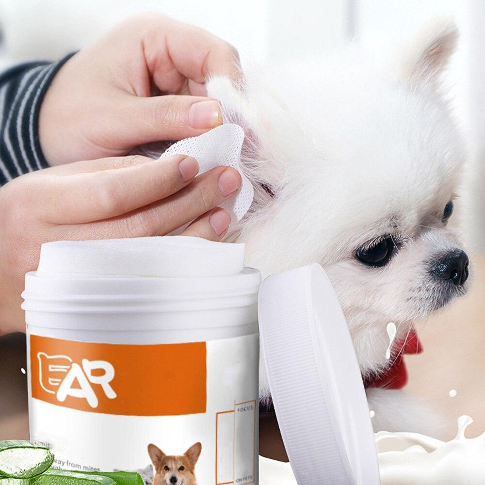 130 piezas de toallitas húmedas para los ojos de las mascotas, toallitas húmedas para el cuidado de los ojos de las mascotas, toallitas de papel para limpieza, accesorios para mascotas