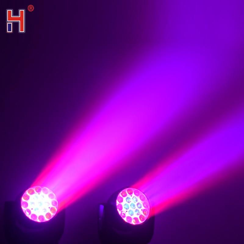 19X15W Led Zoom Moving Head Light Rgbw Wash Dmx512 Beam Party Lights For Stage Lighting Equipment Wedding Bar Club / Сцена Освещение Оборудование Свадьба Бар Клуб