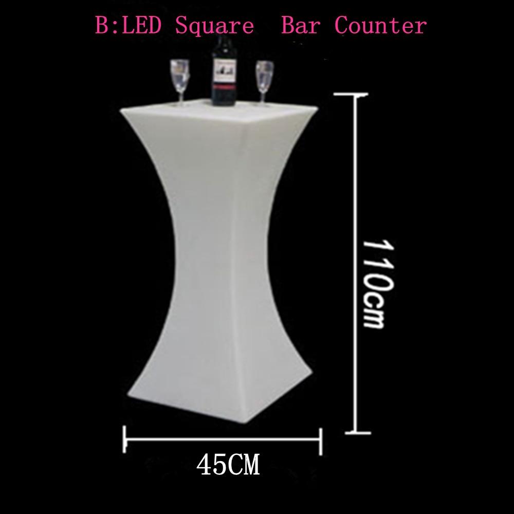 A altura de 110 cm conduziu a tabela iluminada do cocktail iluminou acima tabelas de barra tabela de centro plástica mobília comercial suppies