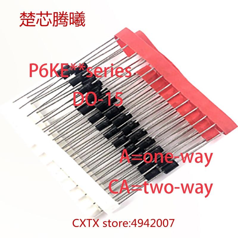 CHUXINTENGXI P6KE200A P6KE190A P6KE180A P6KE170A P6KE160A P6KE150A P6KE130A P6KE120A P6KE110A FAZER-15 TVS DIODE