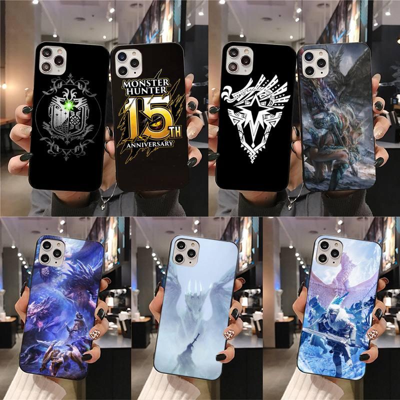 Cazador de monstruos del mundo Iceborne pintado funda para teléfono para iPhone 11 pro XS MAX 8 7 6 6S Plus X 5S SE 2020 XR caso