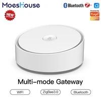 MoesHouse     passerelle intelligente multi-mode ZigBee  WiFi  Bluetooth  Mesh Hub  fonctionne avec Tuya Smart App  commande vocale via Alexa Google Home