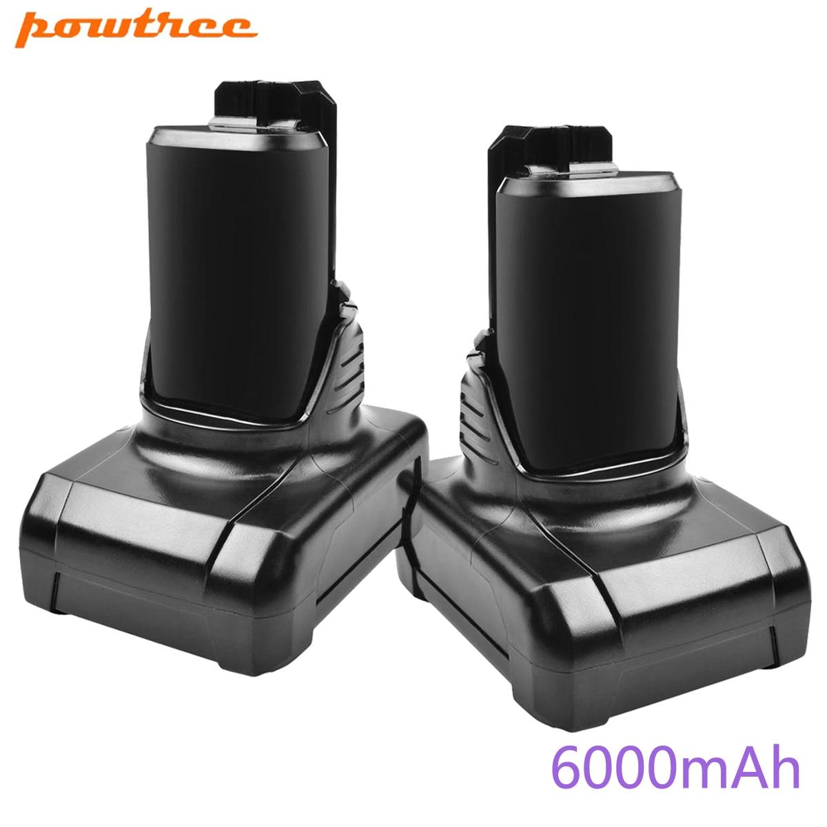 Powtree 4.0/6.0Ah Li-ion Replacement Battery for Bosch BAT411 BAT420 BAT412 BAT414 12V Max Tools