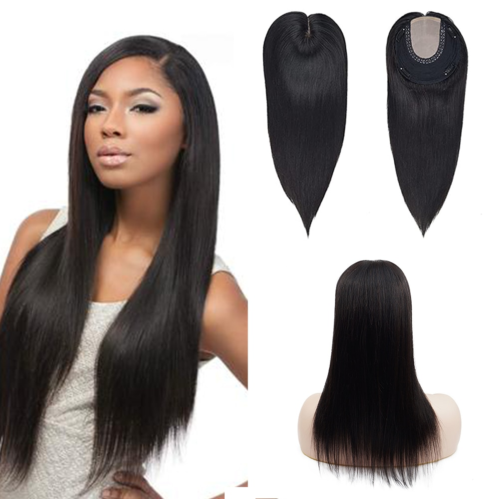 Toysww Real Virgin Human Hair Toppers Wig for Women 12