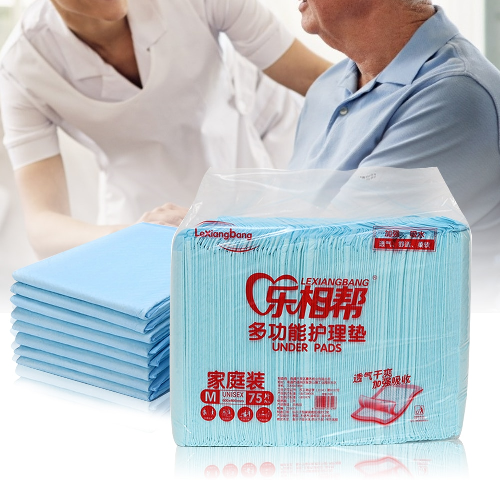75pcs Disposable Elderly Underpad Adult Bed Under Pad Urine Pad Mat Maternal Care Diapers High-Quality Materials Soft Universal
