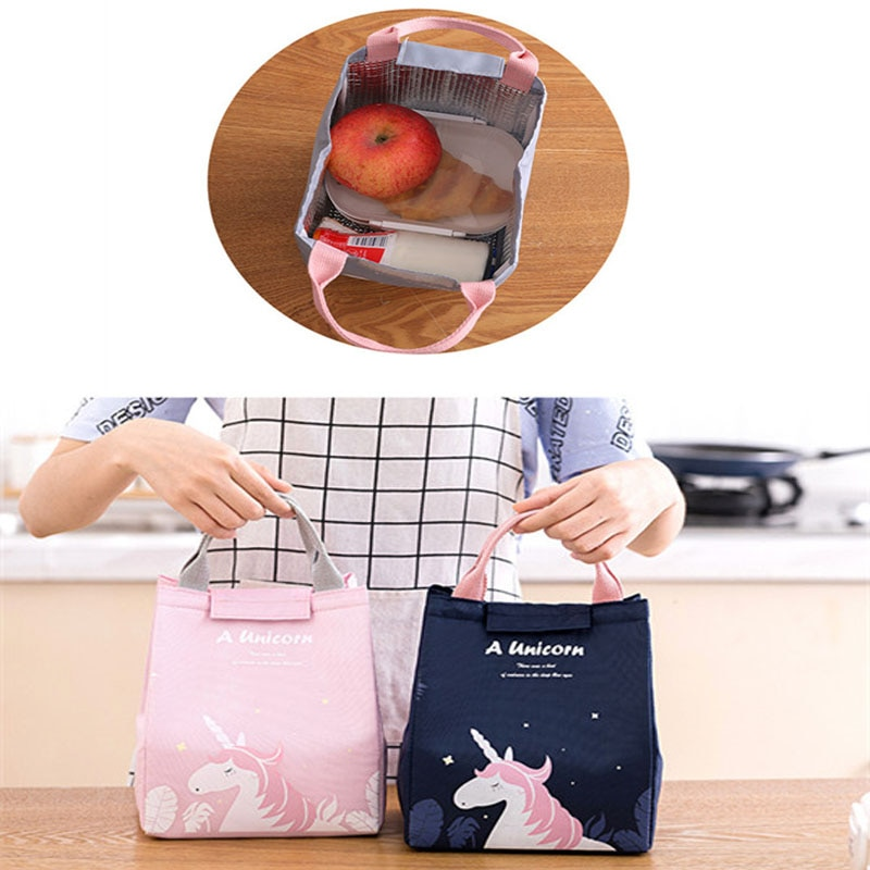 Portable large-capacity insulation bag Dream Forest Thicken Aluminum Foil Insulation Fresh-keeping Bento Lunch Box Bag Lunch Bag недорого