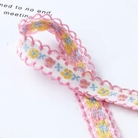 3 yards floral embroidery wavy edge jacquard ribbon for diy clothing bags decoration trims curtain home textile accessories