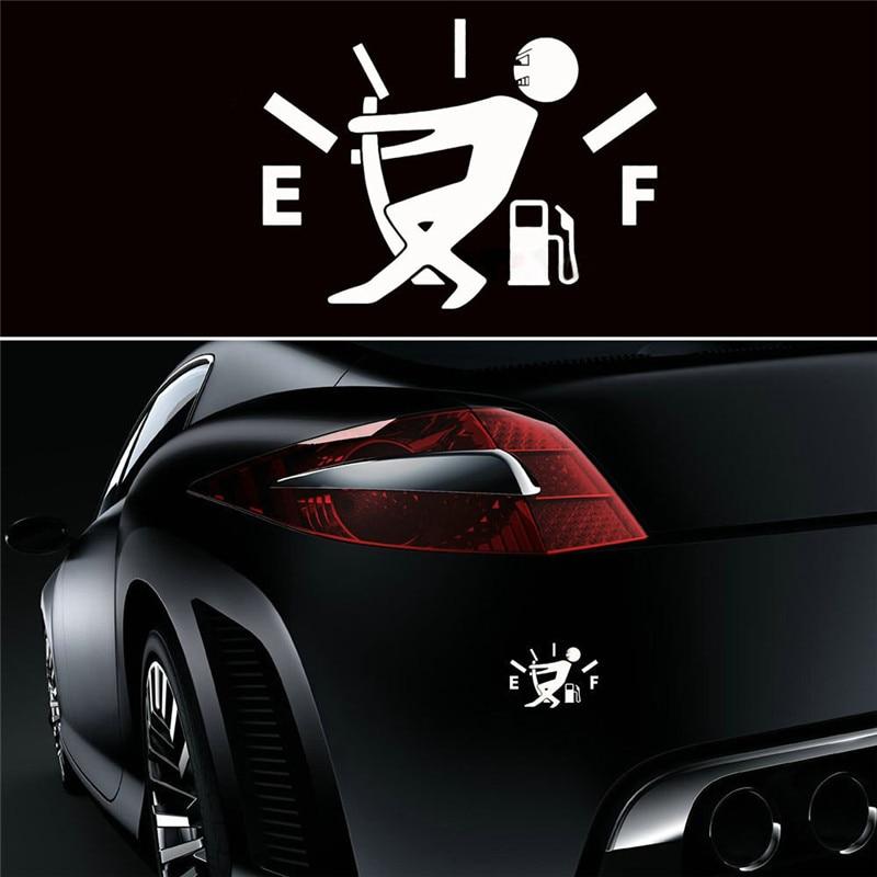 Funny Car Sticker Pull Fuel Tank Cover Pointer Full Hellaflush Reflective Car Vinyl Decal Sticker Fuel EF Car Sticker