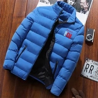 mens brand fashion trend zipper 2021 winter new wild cotton clothing snowy weather warm style mens classic top jacket