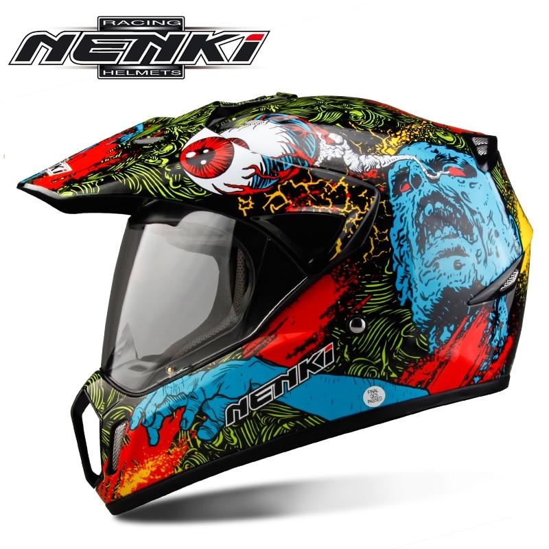 NENKI دراجة نارية خوذة موتوكروس دراجة نارية خوذة لكامل الوجه الرجال مغامرة الإنحدار DH ATV سباق كاسكو موتو الخوذات DOT