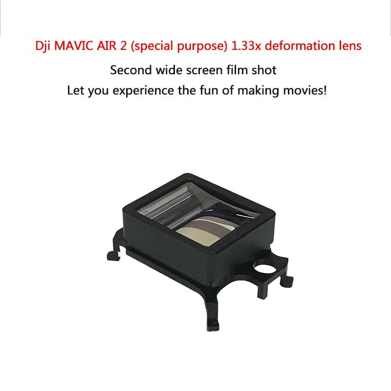 DJI Mavic الهواء 2 عدسة واسعة الزاوية عدسة عين السمكة 1.33X غير متبلور عدسة HD زاوية واسعة عدسة الكاميرا ل DJI Mavic الهواء 2 اكسسوارات