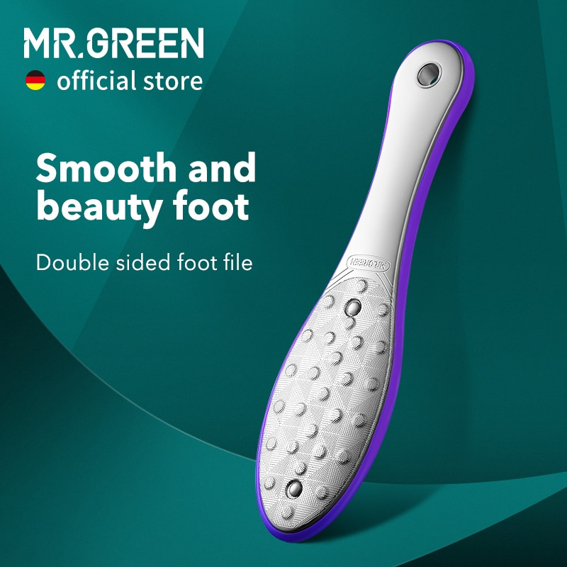 MR.GREEN Pedicure Foot Care Tools Foot File Rasps Callus Dead Skin Remover Professional Stainless St