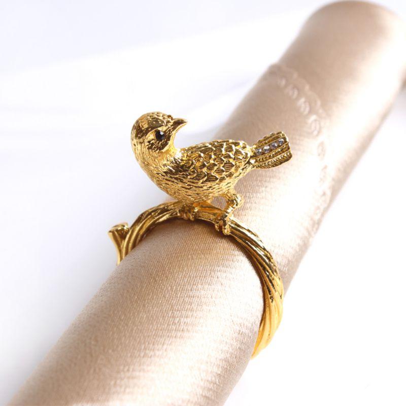 Or argent serviette anneau chaises boucles événement décoration artisanat pour mariage strass arcs mariage fête décoration accessoires #