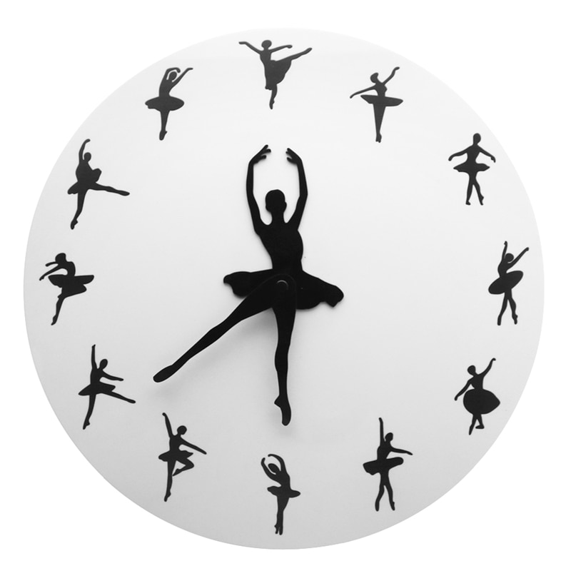 Regalo de decoración de Estudio de danza casera Reloj de pared bailarina de Ballet