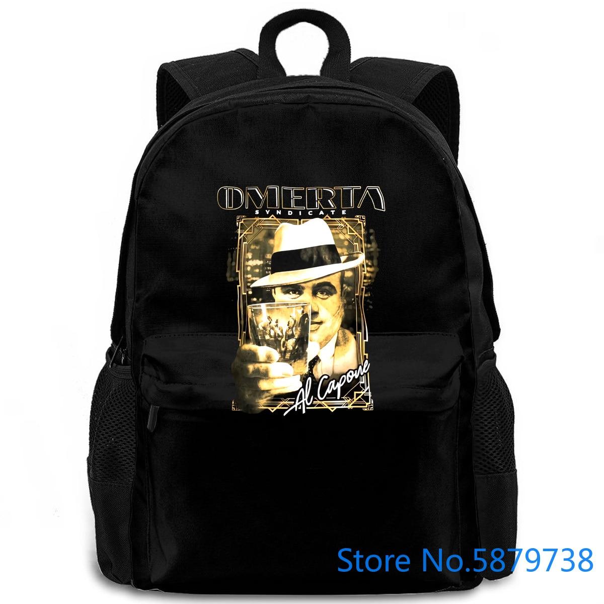 EXTREME HOBBY OMERTA SYNDICATE AL CAPONE MAFIA negro 3D caliente barato hombre mujeres hombres mochila portátil viaje escuela adulto