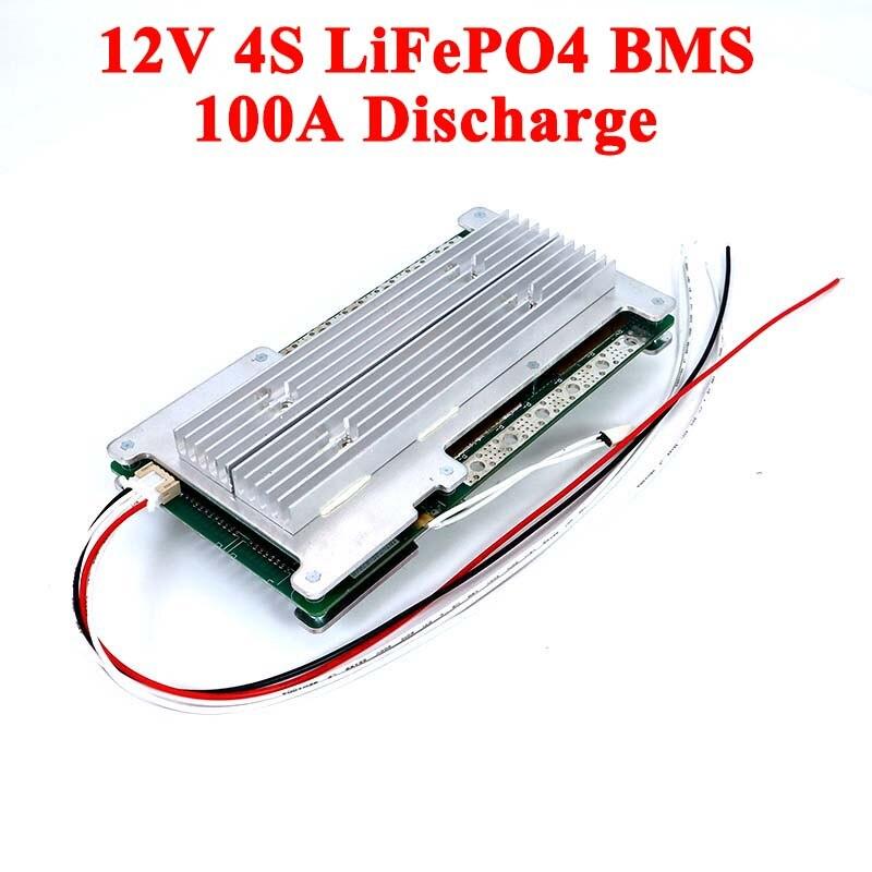 4S LiFePO4 12V BMS 3.2V ليثيوم بطارية حزمة 60A 100A 200A لتخزين الطاقة الشمسية نظام PCB مع التوازن