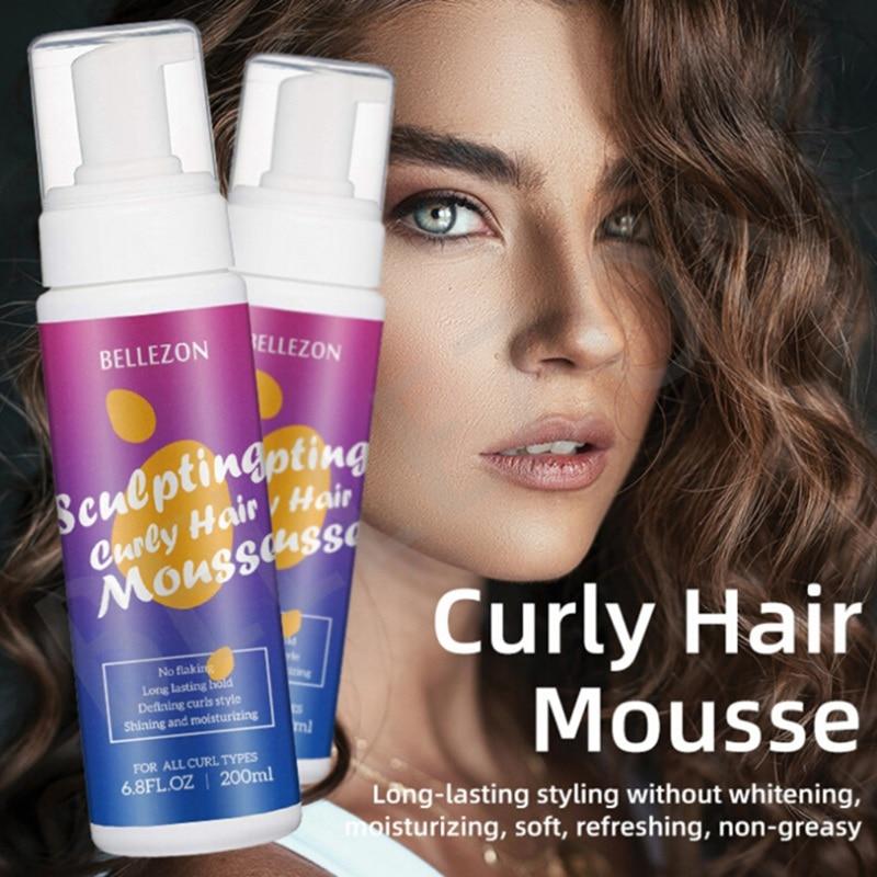 Pelo Rizado acabado Anti-Frizz Styling Cream espuma de pelo Mousse Pelo Rizado Mousse Styling Hold Hair Mousse