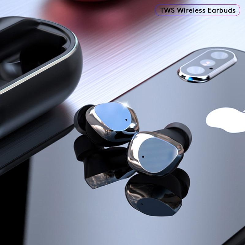 X26 Беспроводная бинауральная 5,0 Bluetooth гарнитура в ухо шумоподавление сенсорное управление наушники умные водонепроницаемые Hifi наушники