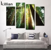 tropical rain forest looking up at the sky canvas painting wall painting home decor poster living room home decoration wall deco