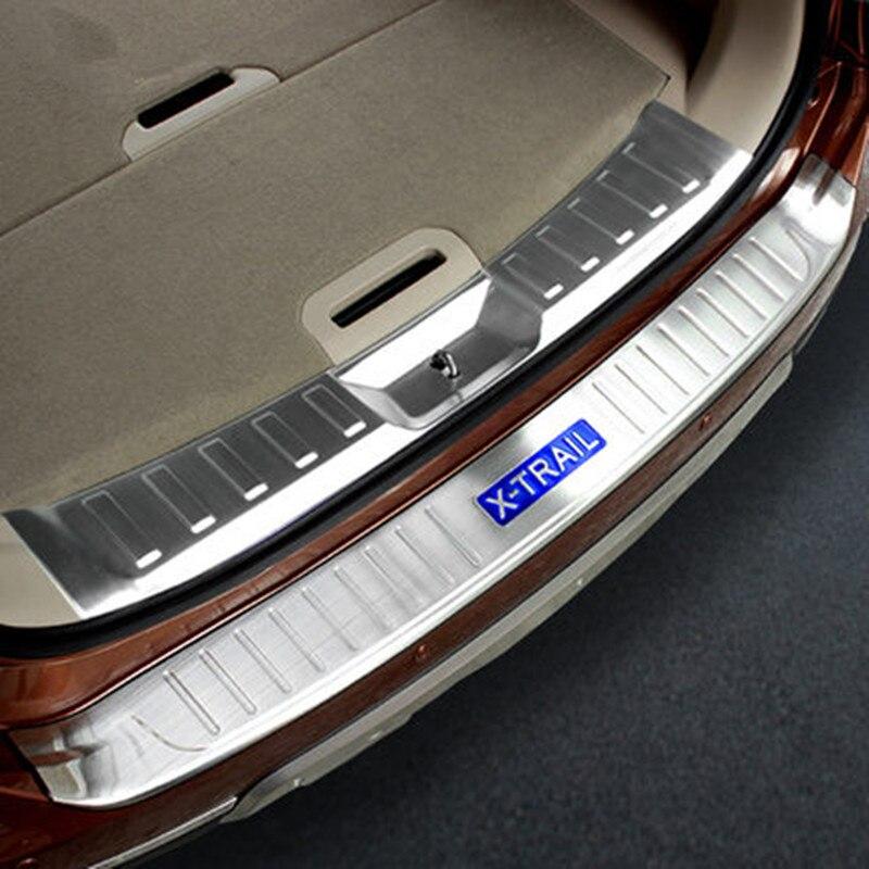 Rogue parachoques trasero de acero inoxidable protector de alféizar cobertor de protección de maletero Trim para Nissan x-trail X Trail T32 2014-2016 accesorios de coche