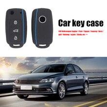 Silicone Remote Key Case Cover Anti-Wear Protective Sleeve for  Volkswagen Bora Golf Phaeton Skoda C