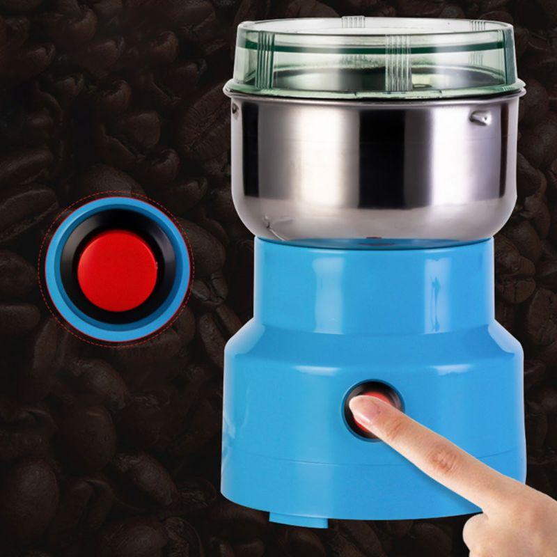 1 قطعة الكهربائية القهوة طاحونة متعددة الوظائف الفولاذ المقاوم للصدأ شفرة مقهى التوابل مطحنة خلاط الجوز الفول بذور طحن سحق آلة