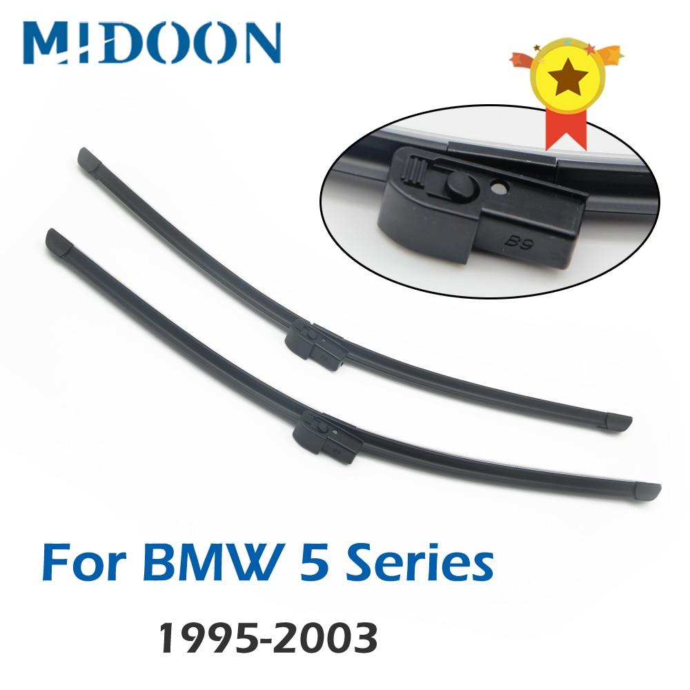 "Lâminas de limpeza midoon, para bmw 5 series e39 525i 528i 530i 540i m5, para-brisa, janela frontal 26 ""+ 22"""
