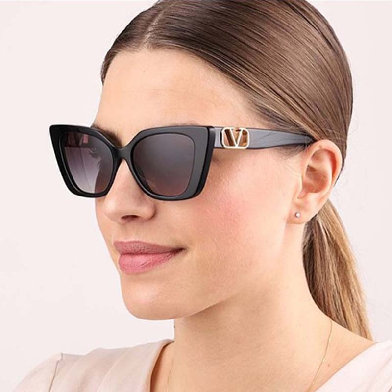 MIZHO 2021 New Fashion Brand Designer Sunglasses Women Cat Eye Quality Cheap Sunglass ladies Vintage