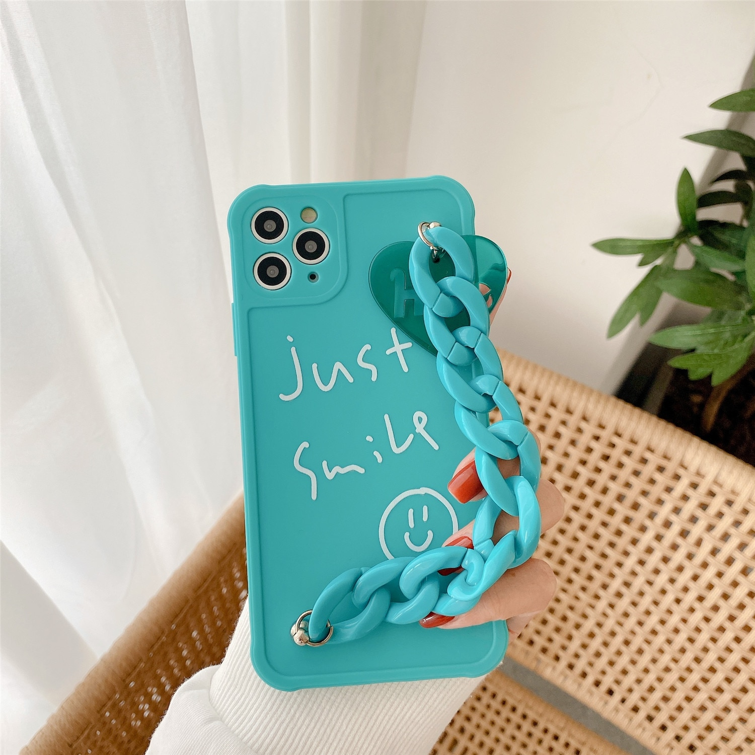 For IPhone 12 Promax Creativity Bracelet Hold Just Smile Simple Cover For IPhone 7 8 Plus X Silicone 11 11Pro 12Pro XS Max Cases enlarge