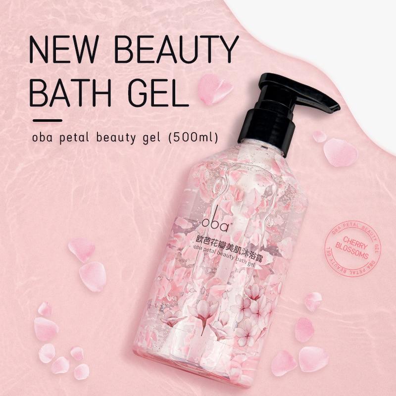 Oba Petal Beauty Bath Gel Deep Clean Long Lasting Fragrance body wash Nourishing  whitening  Leaving Fragrance Shower Gels