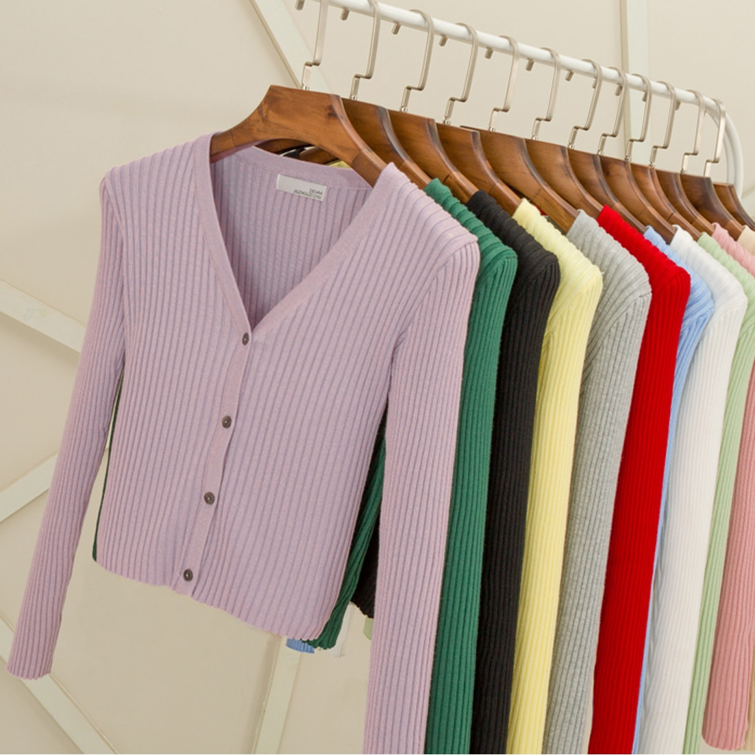 LEOSOXS, suéteres para mujer, Tops de punto con botones, cárdigans acanalados, ropa de abrigo de punto de manga larga ajustada sexi para mujer, suéter de otoño