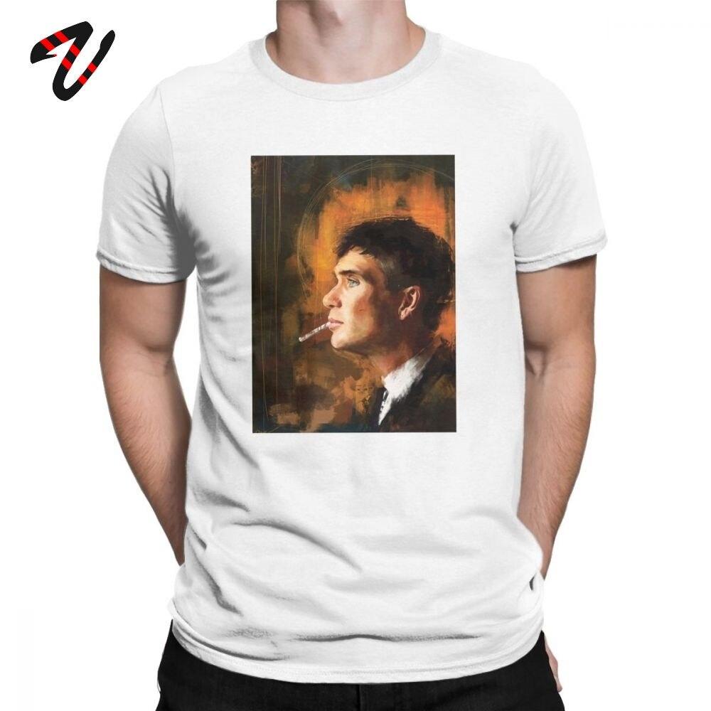 Camiseta Peaky Blinders para hombre Shelby Cillian Murphy Original, camiseta de manga corta, Camiseta de cuello redondo, camisetas de algodón de talla grande