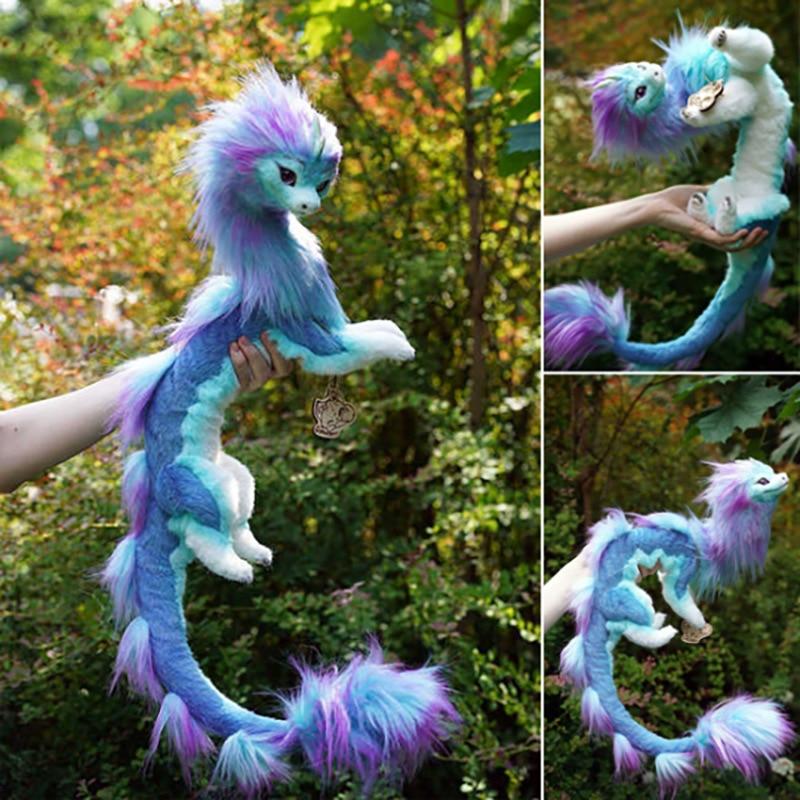 Эксклюзивные плюшевые игрушки Sisu Dragon Raya и последний дракон, большой размер 50 см, мягкие набивные животные, кавайные куклы-Жуки в лабиринте